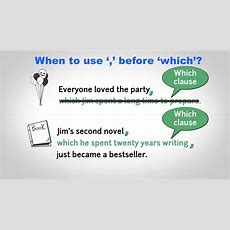 When To Use Comma Before Which? Youtube
