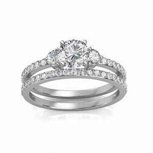 130 Carat 18K White Gold Sylvia Engagement Ring And