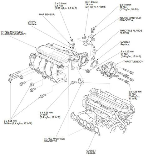 Honda Fit Diagram by Intake Manifold Chamber Assembly Removal And Installation