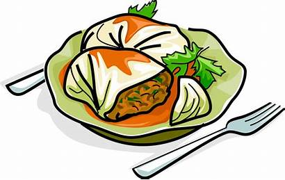 Cabbage Clipart Roll Rolls Transparent Stuffed Vector