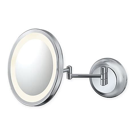 lighted makeup mirror bed bath and beyond buy kimball 5x lighted makeup mirror in chrome