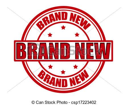 Vector Clipart Of Brand New  Stamp With Text Brand New