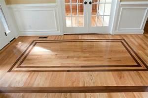 Hardwood Floor Designs With Minimalist Border For Floor