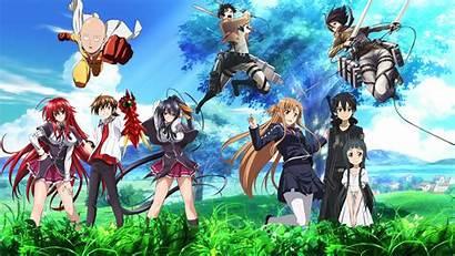 Akeno Himejima Issei Wallpapers Anime Hyoudou Background