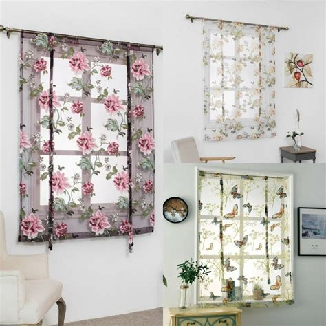 Bad Fenster Vorhang by Rod Liftable Kitchen Bathroom Window Curtain Floral