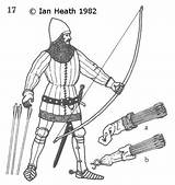 Archer Medieval English 14th Century Drawing Longbowman Armour Mounted Archery Getdrawings sketch template