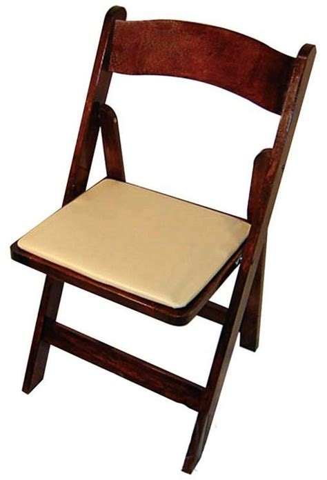 classic series 30 5 h wood folding chair fruitwood vinyl seat pad