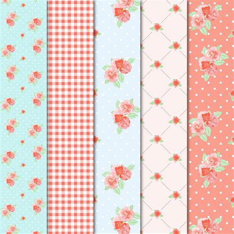 shabby chic patterns digital paper shabby chic patterns on creative market