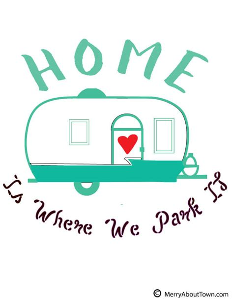 Retro Camper Printables To Color  Merry About Town