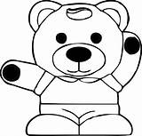 Panda Coloring Pages Teddy Pandas Colouring Clip Clipart Clker 321coloringpages sketch template