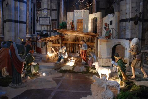 typical nativity scene  church photo