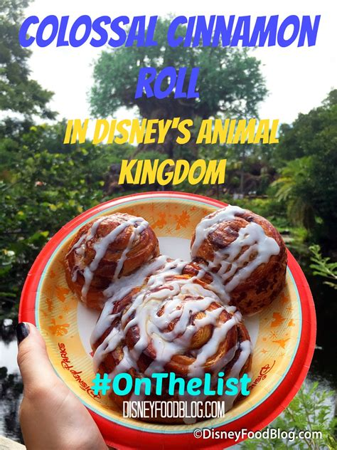 disney cuisine onthelist warm colossal cinnamon roll in disney s