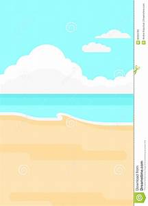 Background Of Sand Beach With Blue Sea. Stock Vector ...