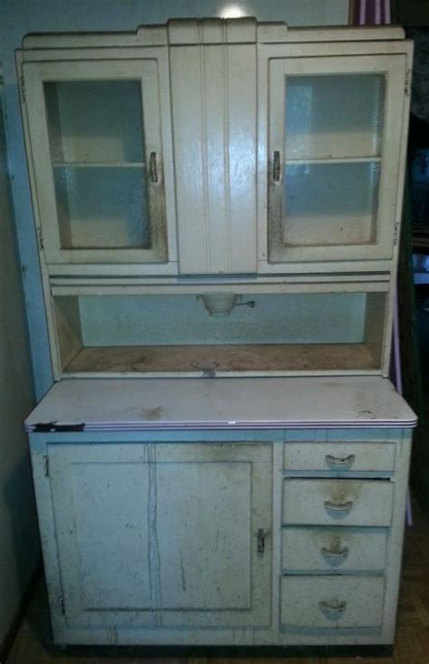 What Is My Hoosier Cabinet Worth by Hoosier Cabinet With Built In Flour Mill Price Lowered