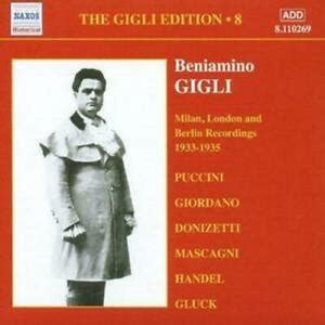 Various Composers : Gigli Edition Vol. 8, The: 1933 - 1935 ...