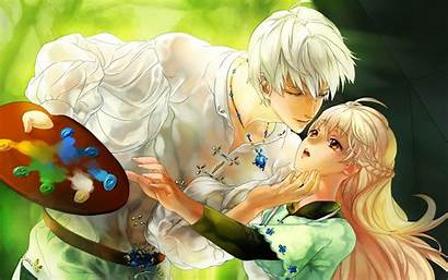 Anime Couple Romantic Couples Comics Desktop Wallpapersafari