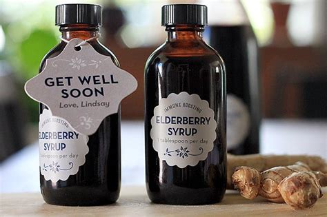 gift elderberry syrup party inspiration