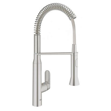 kitchen faucet foot pedal grohe k7 medium single handle pull down sprayer kitchen faucet with foot control in supersteel