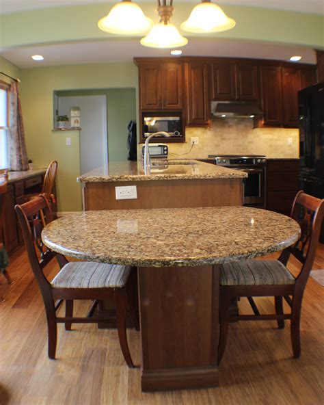kitchen islands with seating for 2 this twolevel island drops to table height for easy