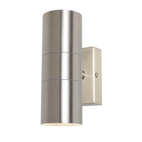 kenn up light outdoor wall light satin chrome