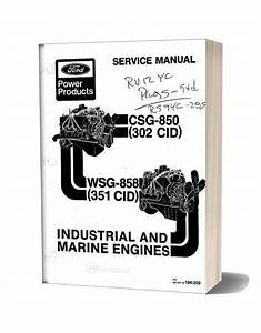 Ford 302 351cid Industrial Marine Engine Service Manual