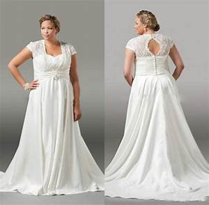 elegant plus size wedding dresses lace pleated 2016 spring With plus size sleeved wedding dress