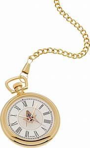 New Bulova Gold Plated Freemason Masonic Pocket Watch and ...