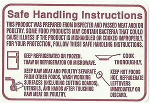 Safe Handling Instructions Label  2 Roll X1000  Roll