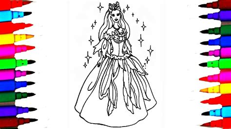 girls barbie princess coloring pages  coloring barbie