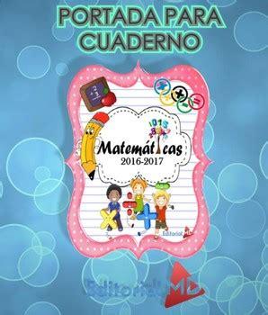 mis cosas de maestra cuaderno de matemticas 1 ciclo portadas para cuadernos imprimir by