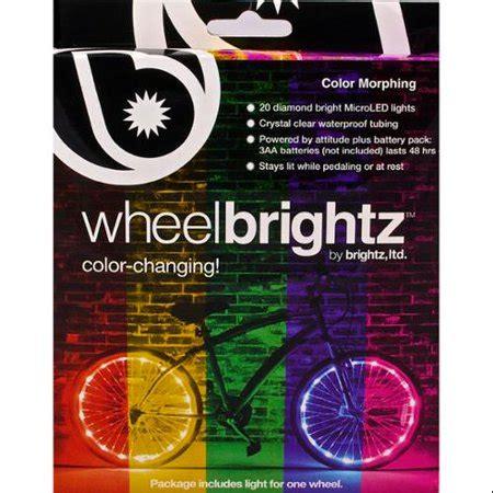 bike wheel lights walmart color morphing wheel brightz led bicycle light walmart