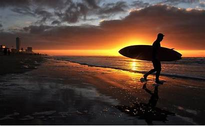 Sunset Surfer Surfing Wallpapers Surf Hq Chef