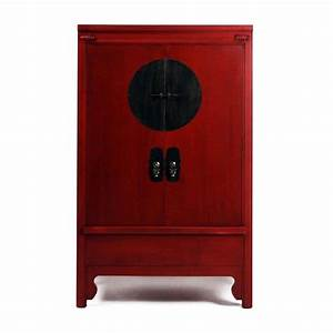Armoire Chinoise Rouge Siete Mares 2 Portes 2370