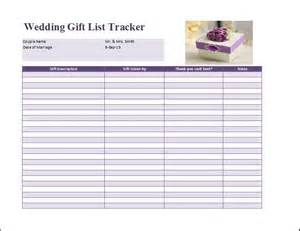 wedding tracker wedding gift list template free formal word templates