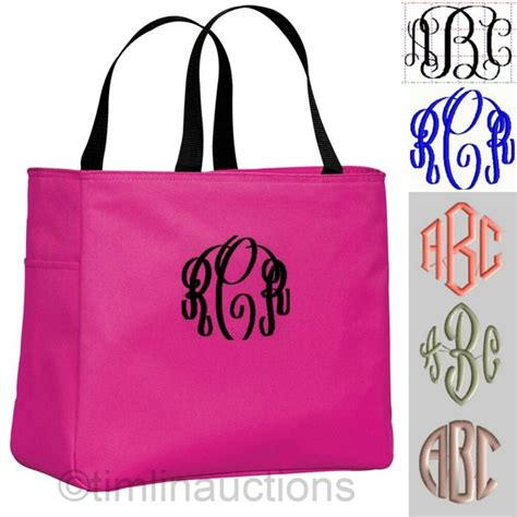 personalized tote bag monogram bride bridesmaid gift
