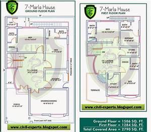 Civil Experts 7 Marla House Plans Design No 3 ~ Clipgoo