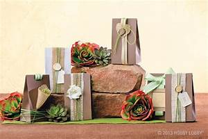 add a few strips of understated burlap a length of earthy With hobby lobby wedding favors
