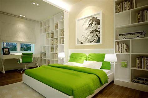 natural green color schemes  modern bedroom