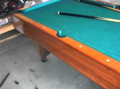 space for pool table mizerak space saver pool table for sale youtube