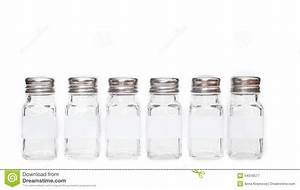 Spice Jars With Labels Isolated Stock Image
