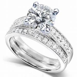 Cheap discount vintage wedding rings set 2pc halo round for Low cost wedding ring sets