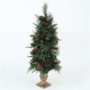 Winsome, House, 4, Ft, Pre-lit, Porch, Christmas, Tree, With, Holiday, Decor-whap339