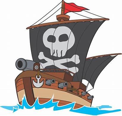 Pirate Ship Clipart Transparent Laut Kapal Gambar