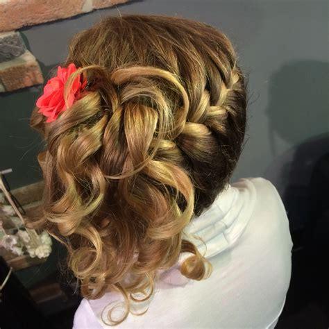 coiffure enfant tresse  boucle coiffure