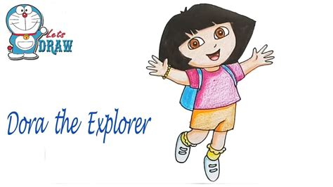 How To Draw Dora The Explorer Step By Step Youtube