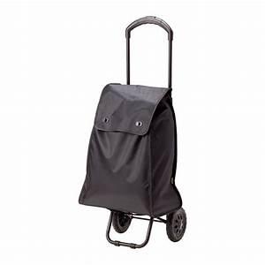 KNALLA Shopping bag on wheels Black - IKEA
