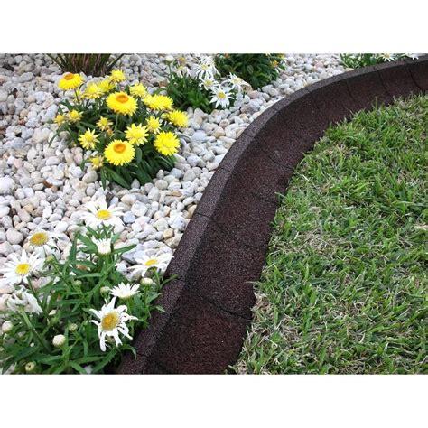 Home Depot Garden Decoration by Ecoborder 4 Ft Brown Rubber Curb Landscape Edging 4 Pack