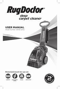 Rug Doctor Deep Carpet Cleaner Manual By Aragonez