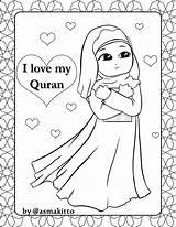 Muslim Quran Coloring Children Ramadan Colouring Printable Eid Praying Mandala Crafts Drawings sketch template