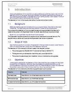 statement of work template ms word free excel spreadsheet With statement of works template